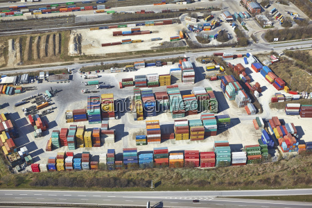 germany bavaria aerial view of container