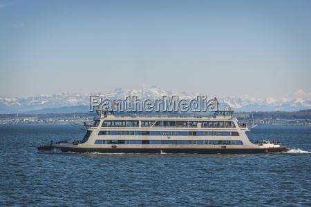 germany baden wuerttemberg ferry meersburg on