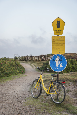 germany sylt kampen bicycle leaning on