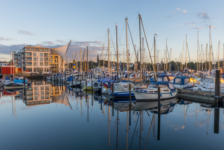 germany eckernfoerde view to marina and