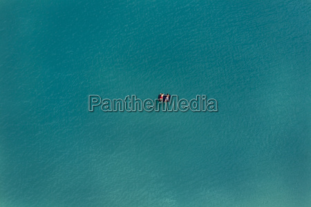 aerial view of two bathers on