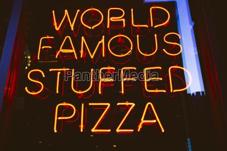 usa illinois chicago neon advertising for