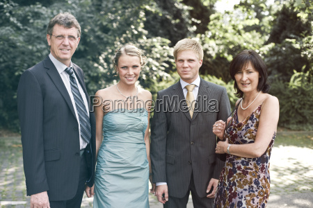 germany duesseldorf men and woman smiling