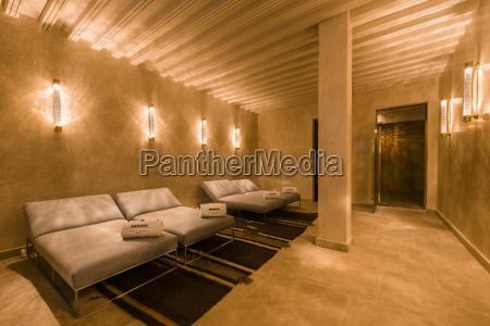 morocco fes lighted relaxation room of