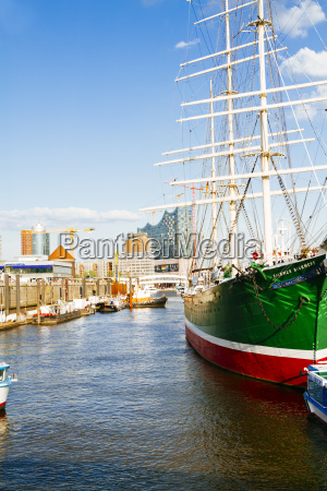 germany hamburg sailing ship rickmer rickmers
