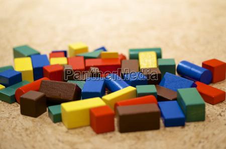 building blocks close up