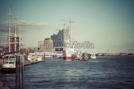 germany hamburg view of harbour