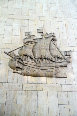 germany hamburg relief of a sailing