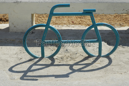 malta bicycle stand in marsalforn