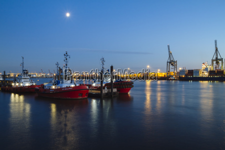 germany hamburg harbour elbe river blue