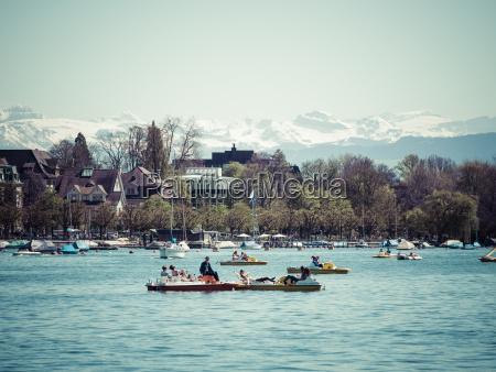 switzerland zurich lake zurich alps in