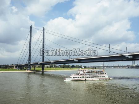 germany duesseldorf tourboat on rhine river