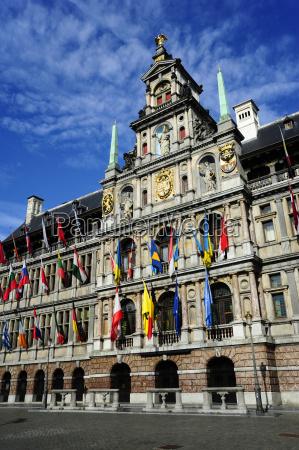 belgium flanders antwerp historic city center