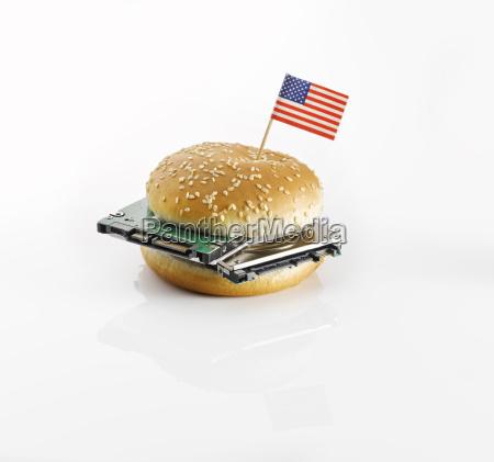pane americano decorato decorazione cibo pasto