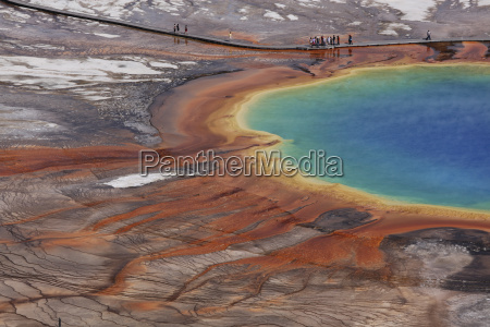 view of grand prismatic spring at