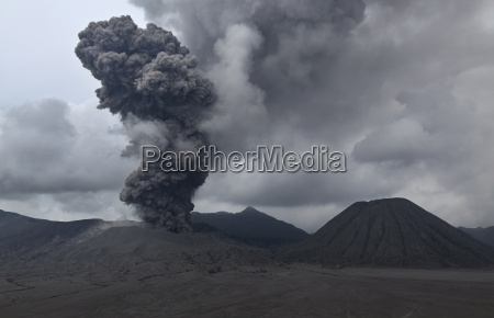 indonesia java view of eruption from