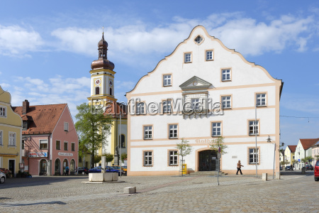 germany bavaria upper bavaria koesching townhall