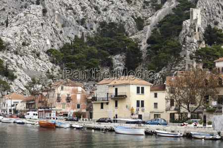 croatia omis view of old town