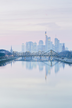 germany hesse view of frankfurt am