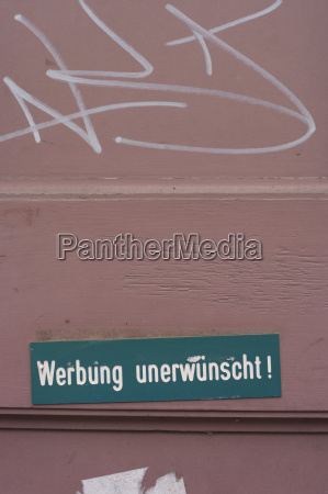 germany hesse frankfurt no advertising sign