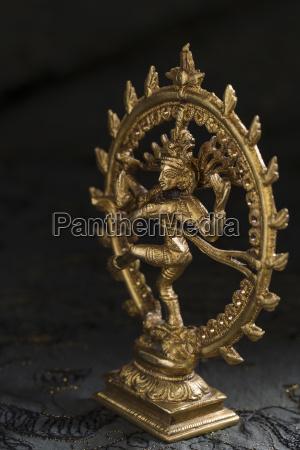 figurine of dancing shiva nataraja close