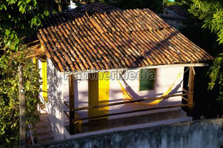 brazil bahia hammock infront of house