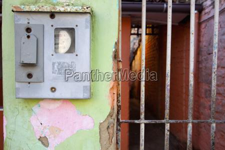 brazil bahia electric meter box on