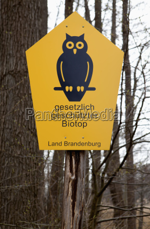 germany sign post in forest