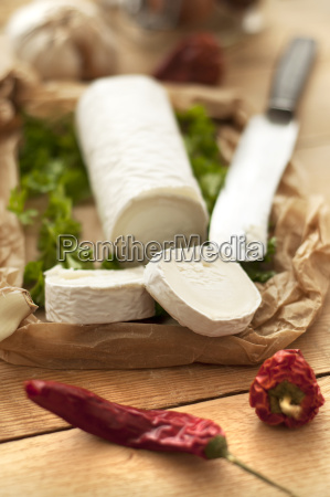 goat cheese with chili pepper on