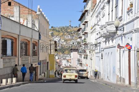 ecuador quito view of city life