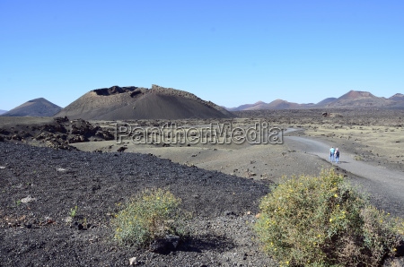 spain view of volcano natural park