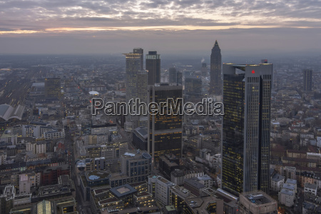 germany hesse frankfurt city view with