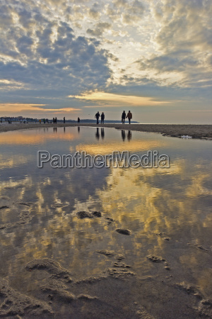 germany baltic sea beach walk in