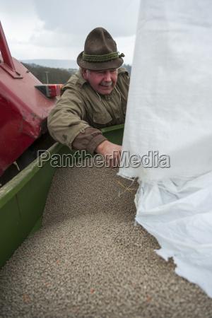 germany rhineland palatinate neuwied farmer filling