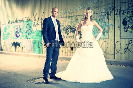 germany rhineland palatinate bridal couple standing