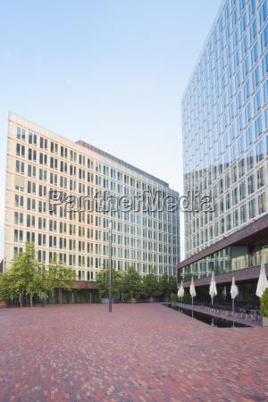 germany hamburg view to modern office