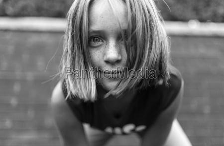 portrait of interested girl