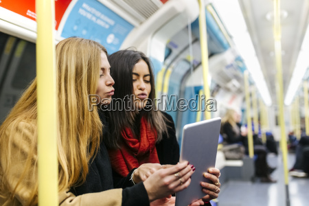 uk london two young women in