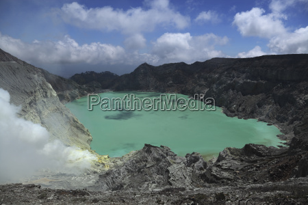 indonesia view of kawah ijen volcano