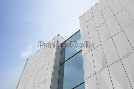 part of modern facade with ornament