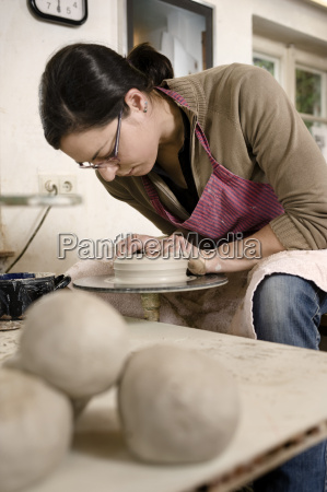 germany bavaria mid adult woman shaping