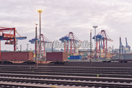 germany hamburg railway tracks at the