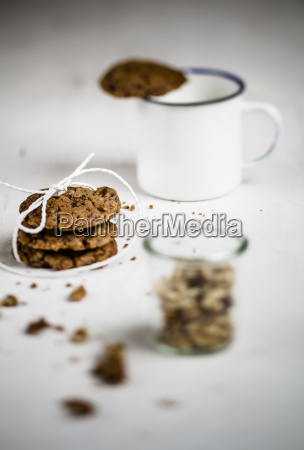 mug with cookie on edge stack