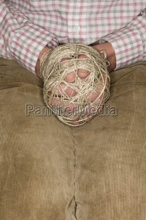 germany man with tied hands