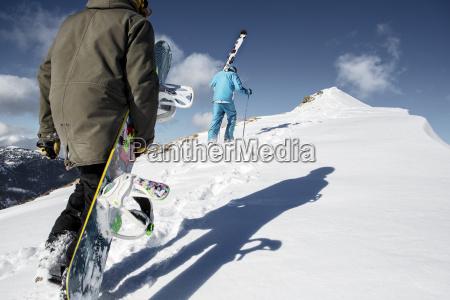 austria vorarlberg riezlern skier and snowboarder