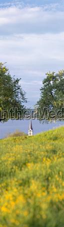 switzerland view of church and lake