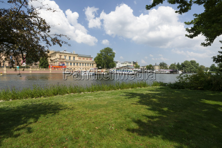 germany schwerin pier for tour boats