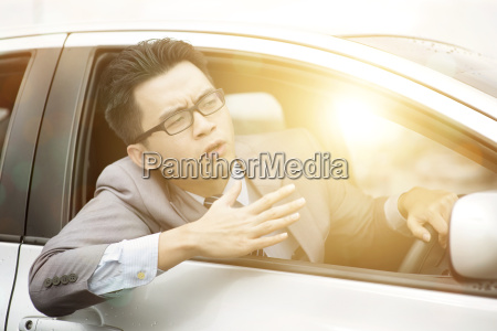 angry asian driver
