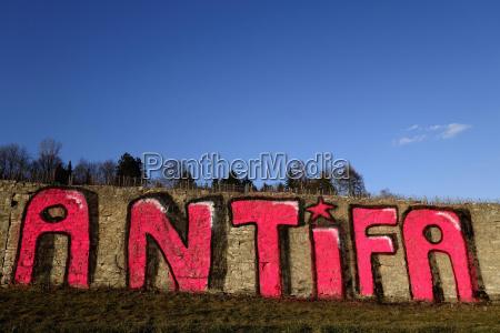 germany wuerzburg antifa anti fascist grafitti