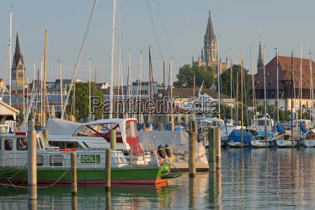 germany constance view of marina with